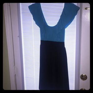 Dresses & Skirts - Turquoise and black Dress size S